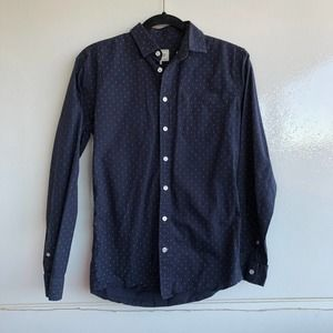 Frank & Oak Men's Blue Button Down Shirt